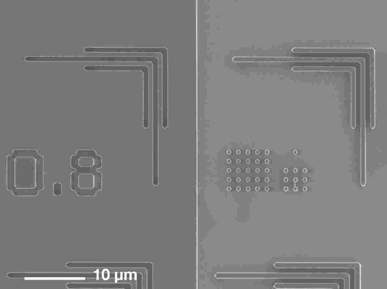 High-precision 1 µm thin-layer processing  with 0,8 µm L/S structures