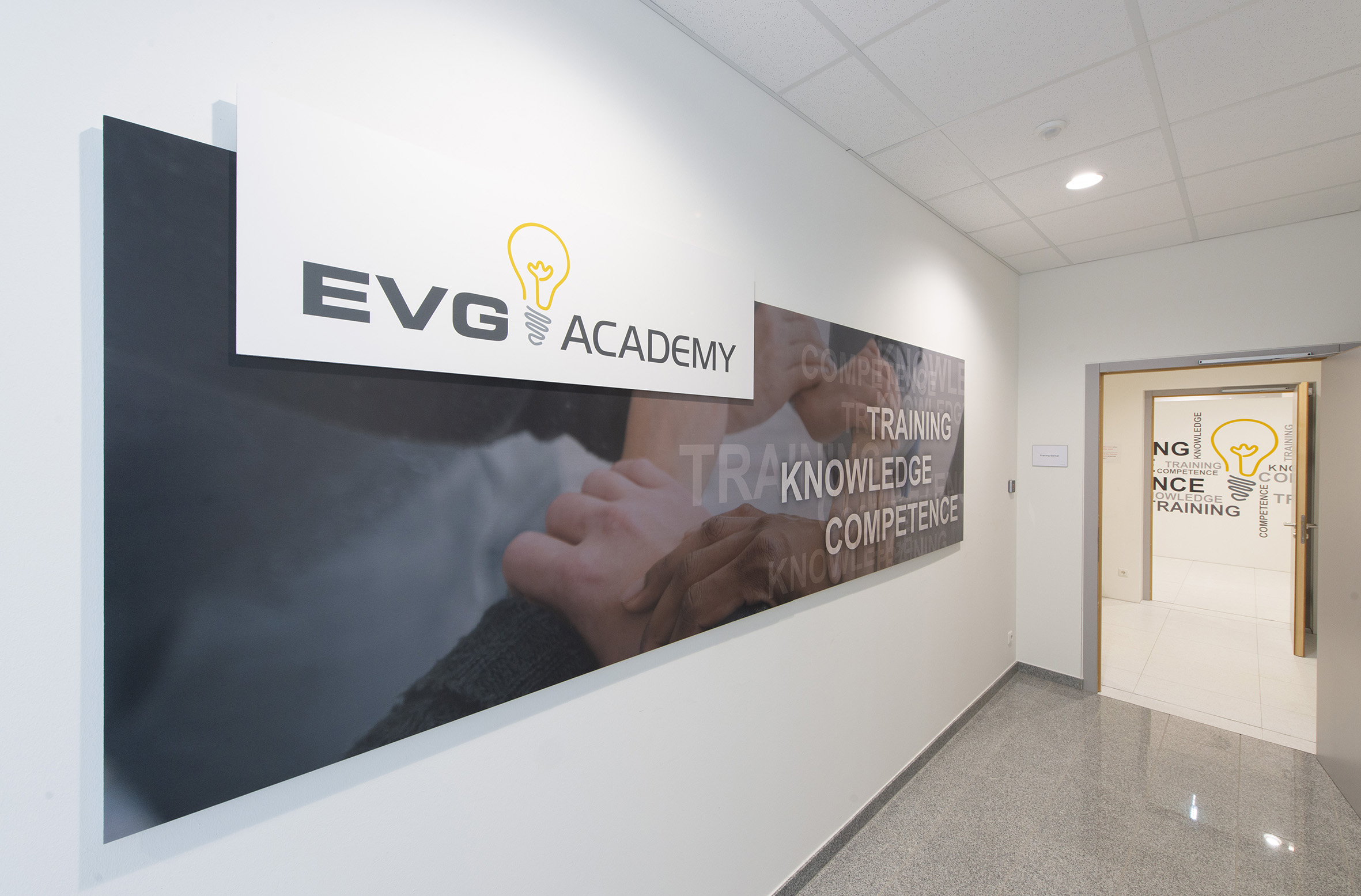 EVG Academy entrance area