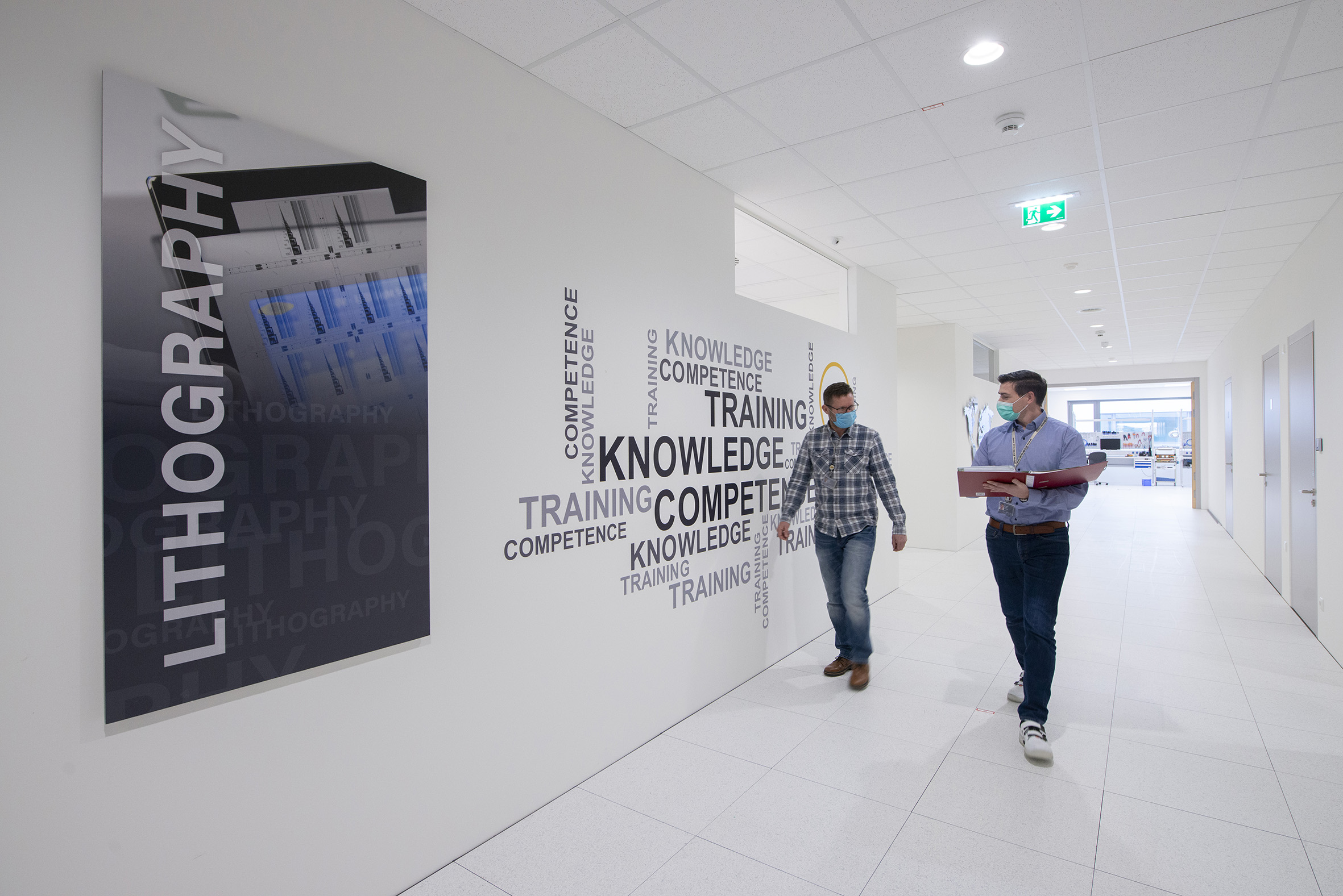 Hallway in the new, purpose-built EVG Academy